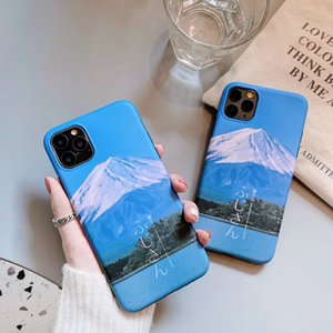 Fashion Mobile Phone Case 11pro Max 11Pro  X Xs XR XSMax 7P 8p 8 7 High Quality Case Simple Mountan Printed Casual Style IPhone Case