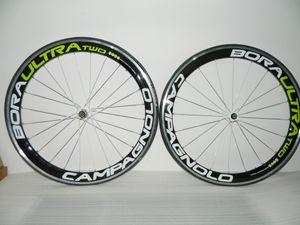 Campy BORA ULTRA due verdi superficie frenante in lega di alluminio g3 50MM strada del carbonio della bicicletta Ruote copertoncino