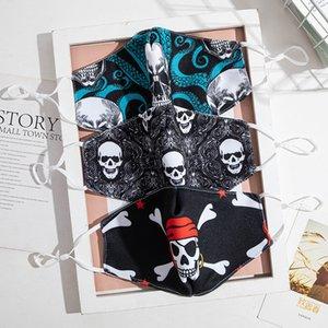 2020 novo designer mascarilla máscara de moda homens mulheres adultos com bolso inserção PM2.5 filtra Crânio céu estrelado algodão mascarar o transporte livre