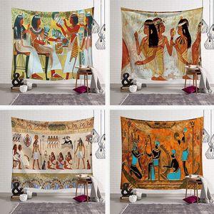 Yoga Mat Blanket Номер декора стены гобелен пенка Гобелен Стена висит Гобелен Древний Египет печать 150x200cm BOHO декор