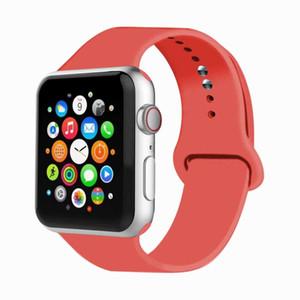 Esporte Rubber relógio inteligente Banda Strap, Assista Acessórios de luxo Silicone Para a Apple i Assista Series Banda 5 4 3 iWatch Banda