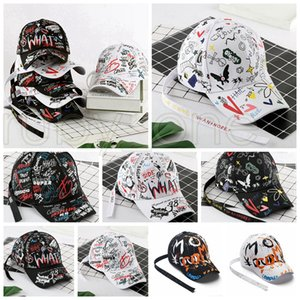 Граффити печати Бейсболка Мода Открытый граффити Хип-хоп шапки Спортивные Snapback Hip Hop Party Шапки Supplies 8styles RRA3473