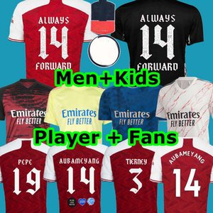 TOP maillot de football Arsen 20 21 PEPE FA MAISON LOIN HENRY TOUJOURS 14 FORWARO MAITLAND-NILES TIERNEY CUP 2020 2021 FORMATION Chemises hommes + kit enfants