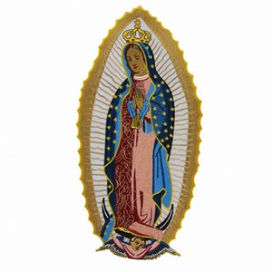 Holy Virgin Mary Embroidered Patch Big Size Custom Sew On Iron On For T-shirt Jacket Clothing Design Applique U1sW#