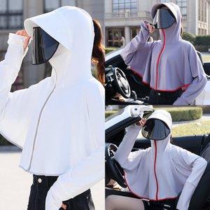 Kurze Kleidung Fahrradkleidung Mantel drehbare Linse kurzer Mantel sunscreen Eisseide Schalaußen Fahrrad fahren sunscreen Kleidungs