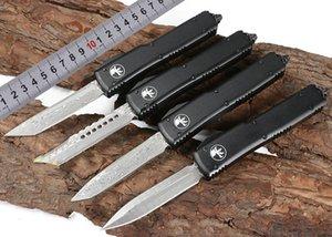 MICROTECH couteau automatique UTX85 UTX70 UT70 lame en acier Damas couteau de poche de chasse en plein air cadeau de Noël