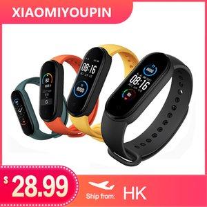 2020 Xiaomi MI Banda 5 Pulseira Inteligente 4 Cor Amoled Screen MIBAND 5 Fitness Tracker Esporte impermeável SmartBand Bluetooth 5.0