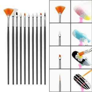 Dual Head Nail Art Flower Carving Painting Brush Acrylic UV Gel Extension Drawing Pen 3d Manicure Professional Gradient Brushes