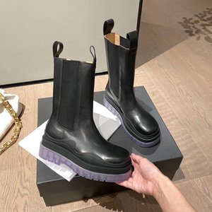 Bottega veneta boots Weise Marque Booties TIRE STIEFEL Frauen Plattform klobige Stiefel Damenstiefel luxe Design Frauen Stiefel Mitte der Wade Desig Stiefel Größe 35-40