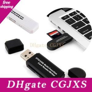 3 في 1 USB OTG قارئ بطاقة محرك فلاش العليا -Speed USB2 0.0 العالمي وتغ TF / بطاقة الذاكرة الرقمية المؤمنة للحصول على الروبوت الهاتف الحاسوب تمديد الرؤوس