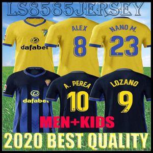 20 21 CADIZ CF لكرة القدم الفانيلة الرئيسية Lozano Alex Bodiger Camiseta A Liga Camisetas de Fútbol 2020 2021 قادس بعيدا الرجال الاطفال كيت كرة القدم القمصان