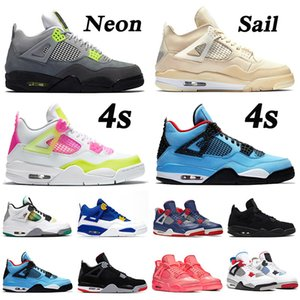 2019 cool grey 4s 4 retro 4 Jumpman New Grey Cool Gray 4s Travis Scott x 4 Cactus Jack IV NEON Violet Raptors FIBA ​​Chaussures Chaussures Femmes Baskets 5-13