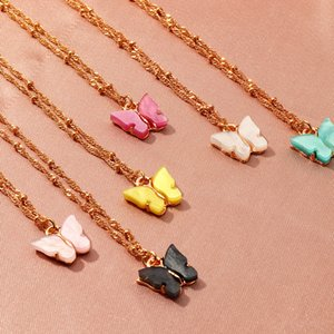 2020 INS Butterfly Necklace Women Pendant Necklaces Fashion Jewelry Gift For Girls Statement Party