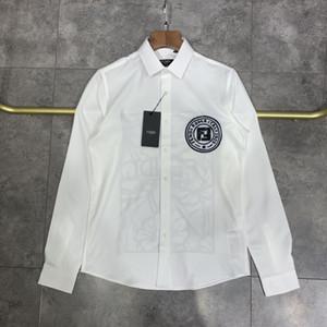20SS França últimas verão selo da Moda de Paris letras colar camisola homens mulheres algodão casual Baseball camisa capuz preto branco
