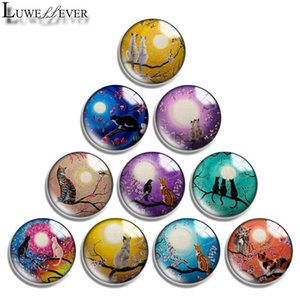 10mm 12mm 14mm 16mm 20mm 25mm 30mm 6311 Sun cat Round Glass Cabochon Jewelry Finding Fit 18mm Snap Button Charm Bracelet Necklace