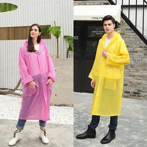 gPvda XbLHE los hombres y de nuevo la lluvia banda reflectante de las mujeres poncho ropa de lluvia de una sola pieza del engranaje de EVA senderismo Capa con el borde exterior de una banda reflectante