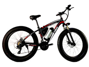 """Electric Bike Fat Tire for Adults 500W Powerful Motor, 48V 10Ah Lithium Battery Mountain Beach Snow (red)"""