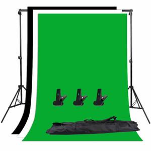 ZUOCHEN Foto-Studio-Hintergrund Support Stand Kit Black White Green Screen Hintergrund Set
