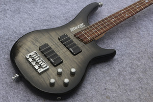 New Custom 6 string grey burst Bass ,One piece Body and rosewood Fingerboard 24 Frets,China Electric Guitar Bass