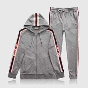 20SS Marken-Männer Sportswear Bermuda europäischen Hip-Hop gedruckt Langarm Sport Sommer neuer V-Ausschnitt bestickt Baumwolle Herren Anzug Fabrik für