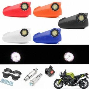 1 Vision LED Coppia Moto Handguard Moto Vision Led Paramani della protezione della mano con la luce Dwio #