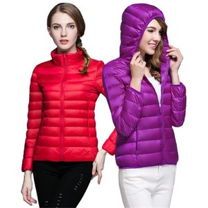 2020 Winter Duck Down Coats Women Ultra Light Down Jacket Hooded Warm Lightweight parka Women Outdoor Clothing Outwear Plus Size 4XL