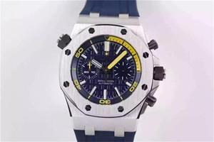 TW 26703 Montre DE Luxe 3124 Movement relógios caixa de aço 42 milímetros importados de borracha pulseira Mens Watch com super relógios luminosos