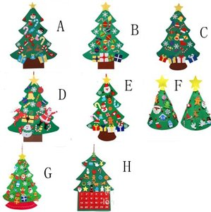 Christmas Tree Fashion DIY Felt with Decorations Door Wall Hanging Kids Educational Gift Xmas Tress about 75X100cm EEA1976