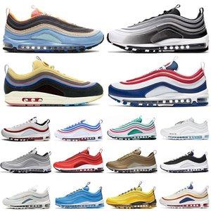 2020 New PÂQUES USA Sean Wotherspoon Hommes Chaussures de course MSCHF x INRI Jésus Triple noir réfléchissantes femmes Bred entraîneurs des hommes de sport Chaussures de sport