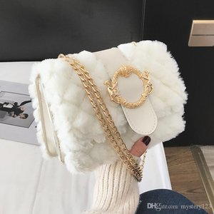 Herbst und Winter Shangxin Kleine Tasche Frau 2018 Chaozhou koreanische Version Baitao Slant Ling Kette Wolle Tasche Einzel-Umhängetasche