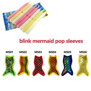 blink Mermaid Popsicle Holder Freezer Icy Pole Ice Lolly Sleeve Protector For Ice Cream Tools For Party Supply Ice Tool LX3112