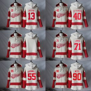 71 Dylan Detroit Red Wings Larkin sudaderas con capucha 40 Henrik Zetterberg 13 Pavel Datsyuk 55 Niklas Kronwall 90 Stephen Weiss Hoodies