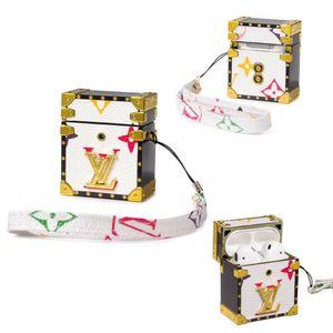 asjgk أزياء للماء Airpods 1/2 الحالات لشركة آبل Airpods برو بو غطاء الموضة لمكافحة خسر هوك المشبك سلسلة المفاتيح لحالة Airpod