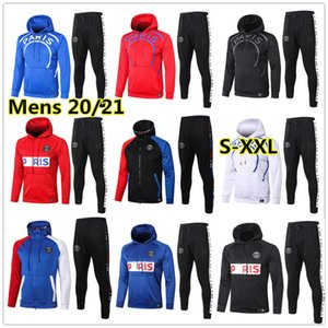 New Mens soccer Hoodie jacket tracksuit 20 21 adults football hoodie jacket survêtement foot chándal de fútbol XXL