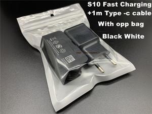 DHL Высокое качество Быстрое зарядное устройство 3,0 Быстрая зарядка 9V 1.67a 5V 2A Путешествия зарядный адаптер Samsung S10 S9 S8 с типом -c кабель с ОПП мешок