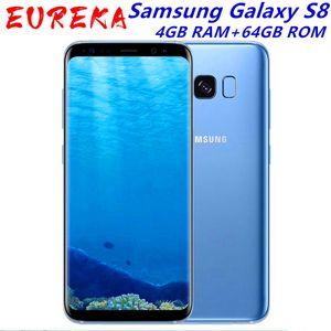 Original Galaxy Samsung S8 SM-G950F 4G LTE téléphone portable 5,8 pouces de 64 Go simple Sim 12MP 3000mAh série S Smartphone