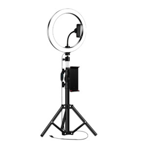 New 10Inch Ring Light with Tripod Stand for IPad Photography Studio Video LED Ring Lamp 5600K with USB Plug for Makeup