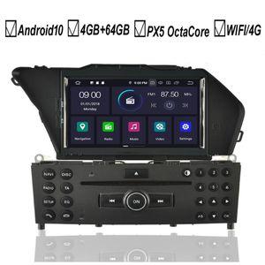Android estéreo 10 Coche DVD GPS para Clase GLK GLK 350 X204 GLK300 Octa 8 Core 4 GB + 64 GB Wifi Radio BT MAPA DAB +