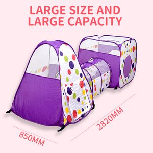 Indoor Outdoor Funny Activity Kid Ocean Play Tent Portable Baby Child Foldable House Ocean Pools with Tunnel