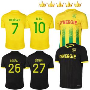 2020 2021 FC Nantes Soccer Jersey Home Away Maillot de Foot Simon 20 21 Louza A Toure Blas Coco Coulibaly Hombres adultos Camisas de fútbol para niños