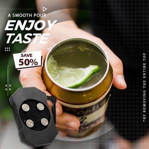 Go schwingen kann Bier-Getränke Opener Universal-Topless Der einfachste Opener Aufreißdose Flasche öffnen Topless Bierdeckel Remover LJJP297