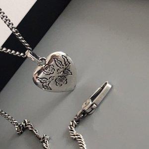 Старинный дом 925 тайских серебряная бесстрашная любовь птица любит слово кулон ожерелья простого длинного ожерелье тенденцию