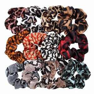 Bandas listrado Leopard Scrunchy Hairbands Mulheres Dot Cabelo Elastic Rubber rabo de cavalo titular Rope Gravatas Meninas Moda Acessórios de cabelo GGA322 AuMS #