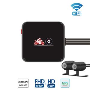 M6L P6L WiFi Motorrad DVR-Schlag-Nocken Full HD 1080P + 720P vorne Rückansicht Wasserdichte Motorrad Kamera Schwarz Recorder Box