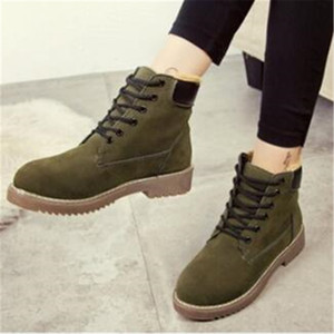 Winter Women Lace Up Ankle Boots Women's Leather Round Toe Ladies Comfort Platform Woman Fashion Sneakers Female Warm Shoe 35-40