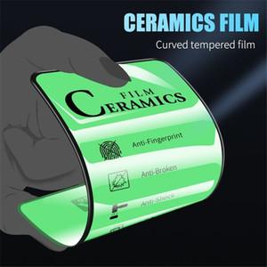 Керамика Screen Protector Мягкий фильм 9Н Полный чехол для iPhone 12 11 про макс XS XR X 8 7 Plus Не Закаленное стекло