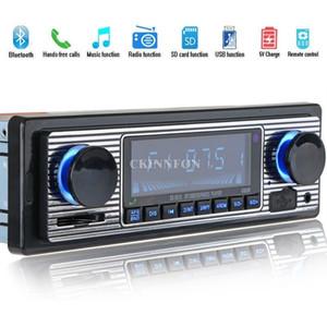 20Pcs Lot LCD Car Kit Bluetooth CD MP3 Player USB AUX Stereo USB FM Radio In Dash Receiver 5513