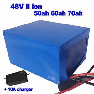 Li Ion 48V 50Ah 60ah 70AH Lithium-Lipo-Akku für E-Bike-Roller Off-Road-Bike-Dreirad-Gabelstapler UPS AGV EV + 10A Ladegerät
