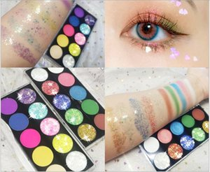 Wholesale make-up Ultra hot pearl 10 color diamond stage makeup glitter eye shadow 10 color fine flash 3d onion eye shadow disc