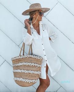 Hot Sale New women's beach sunshield shirt bikini shawl holiday casual shirt shirt skirt